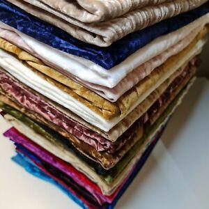"Premium Quality Marble Crushed Velvet Medium Weight Stretch Fabric Material 58"""