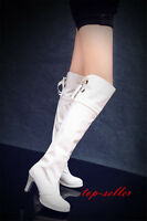 Hot Women high heel Party Patent leather over knee thigh high boot platform Shoe