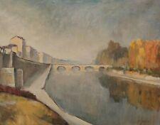 Signiert Jasari - Brücke über einen Fluß Frankreich ?