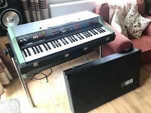 Farfisa VIP200R - 1971 Combo Organ Drum Machine. Case, Stand, Amp - Synth Slalom