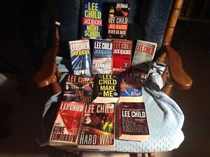 JACK REACHER/ LEE CHILD LOT/12 PAPERBACK USED,NOT ABUSED GOOD READING COPIES '10