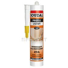 Universal PEGAR / Masilla Sellado Soudal 49a para paneles y Listones
