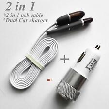 2 en 1 Micro USB et 8 Pin Sync Données Câble De Chargement iPhone Samsung + chargeur voiture