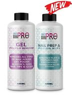 2021 Nail Gel Polish Prep + And Wipe & Remover UV LED Manicure Acetone 2x100ml