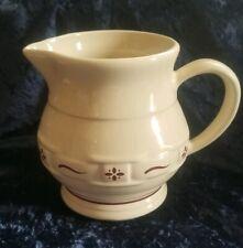 Longaberger Pottery 1 Quart Pitcher Heritage Pattern