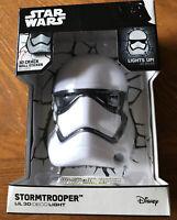 NEW Blue Sky Wireless Lil 3D FX Deco Night Light Star Wars Stormtrooper Disney