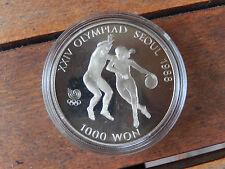 1000 Won Süd-Korea Basketball 1986 C/N PP Seoul 1988
