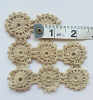 A15 Antique Coarse Crochet Insert Inset Lace Trim Sewing Primitive Salvage