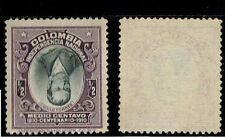 1910 Colombia Sc # 331a CENTER INVERTED UNUSED, NO GUM INVERTIDO ERROR VARIETY