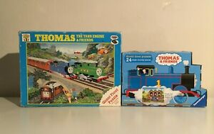 2 x Thomas the Tank Engine & Friends Giant Jigsaw Puzzles Complete (1 Vintage)