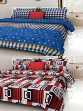 Homefab India Combo of 2 Cotton Double Bed Sheet (Combo793)