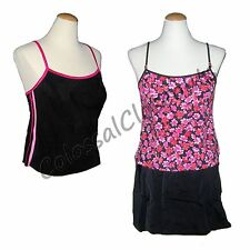 IT FIGURES Hip Hider 3 Piece Skirtini Swimsuit FLORAL & COLOR BLOCK 3pc PINK 18W