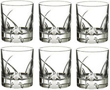 RCR CRYSTAL DA VINCI GROSSETO DOUBLE OLD FASHIONED TUMBLERS 29cl (SET OF 6) NEW