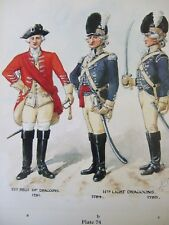 MILITARY PRINT- 11TH REGT OF DRAGOONS 1751/11TH LIGHT DRAGOONS BY RICHARD SIMKIN