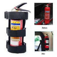 BLACK EASY INSTALL CAR VAN TAXI JEEP UNIVERSAL HOLDER FOR FIRE EXTINGUISHER HOT~