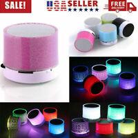 Wireless Mini LED BT Speaker Portable Super Bass Stereo USB/SD Card/TF/FM Radio