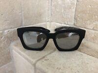 Quay Australia Sunglasses Women's MIDNIGHT RUNNER Black/Silver NWT & Soft Case