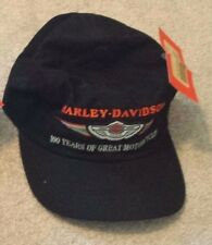 100th Anniversary Harley Davidson Black Baseball Cap NWT