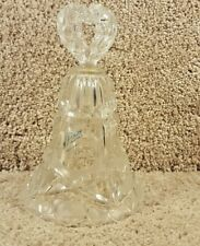 """Price Creation W Germany 24% Lead Crystal Ringing Bell With Frosted Hearts 7"""""""