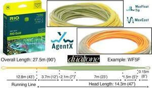 RIO Gold Fly Line 5wt WF5F NIB Float XS AgentX DualTone moss/gold