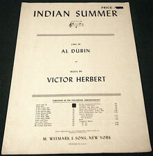 Indian Summer, 1939 Sheet Music In G, Vocal, Piano, Guitar, Good Condition