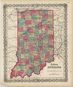 "1860 Colton's  ""INDIANA""-original, ex-atlas"