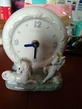 """Linden Ceramic Clock Taiwan 7"""" H x 5""""W"""