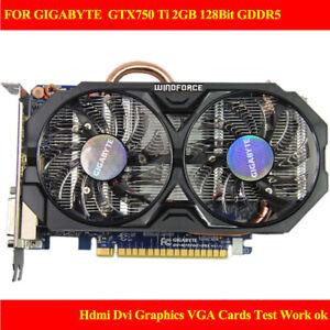 FOR GIGABYTE  GTX750 Ti 2GI 128Bit GDDR5 Hdmi Dvi Graphics VGA Cards Test ok