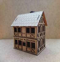 28mm Fantasy Tudor Style Small 2 Storey House T4AE 2mm MDF Laser Cut Kit