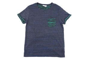 ELEVENPARIS Eleven Paris Vie Une Blague Melanged Bleu Grand Souple Poche T-Shirt