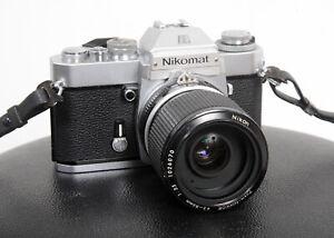 BEAUTIFUL NIKON NIKOMAT (Nikkormat) EL 35mm film camera body + 43-86mm lens