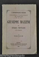 Mazziniana Risorgimento Mazzini Unità Italia Montazio Contemporanei Torino 1862