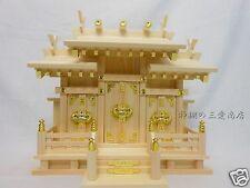 KAMIDANA Japanese Shinto Shrine miniature god shelf 3 doors JINJA Buddhist 51