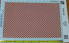 "Microscale Decal #CH-5-1-8 (Checkers 1/8"" Wide Red) See Picture below"