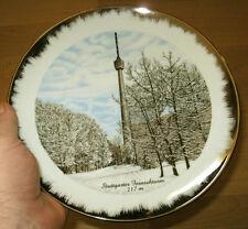 FERNSEHTURM im Winter TELLER STUTTGART Waldau Degerloch SDR SWR Turm edel 24cm