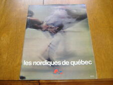 quebec nordiques  WHA game program  1977-78