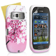 Accessories For The Nokia C7 Floral Bee Silicone Gel Case Cover & Screen Film
