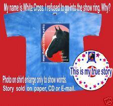 Horse T-Shirt True Story Womans Christian White Cross
