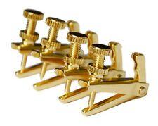 4PCS String Adjuster, Fine Tuner for Violin - Gold 3/4-4/4
