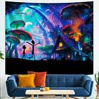 Rick-Morty Tapestry Psychedelic Mushroom Wall Tapestry for Party Bedroom Deco...