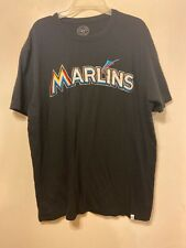 Marlins Baseball Size Medium Embroidered T-shirt