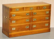 RECORD PLAYER CABINET HIDDEN INSIDE MILITARY CAMPAIGN CHEST CHEST OF DRAWERS