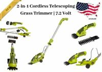Cordless Electric Grass Shears Hedge Trimmer for Small Jobs Sun Joe 2 in 1 7.2V