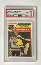 1985 O-Pee-Chee Mario Lemieux Rookie Leaders PSA 8 , #262, Penguins HOF