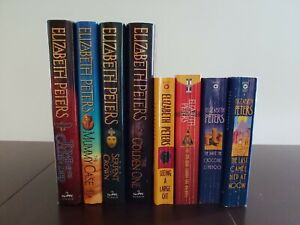 Elizabeth Peters Book Lot Of 8 Hardcover Paperback