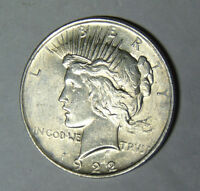 AU 1922 Peace Silver Dollar About Uncirculated Philadelphia Mint (ctube)