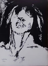 Michel Warren : Lithographie Originale Signée Numérotée de 1974 cf Francis Bacon