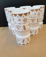 Absolut Vodka Christmas Cracker Cups x6 With 50x Drip Mats New And Unused
