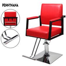 Red Classic Hydraulic Barber Chair Hair Salon Beauty Spa Shampoo Equipment