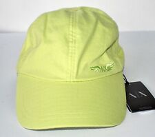 Armani Exchange Baseball Cap Hat GREEN Adjustable Size Cotton NWT